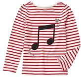 Crazy 8 Music Note Stripe Tee