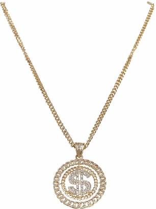 Urban Classics Dollar Diamond Necklace Cuff Links