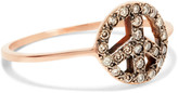Ileana Makri Peace 18-karat rose gold diamond ring