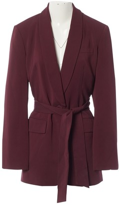 Tibi Burgundy Viscose Jackets