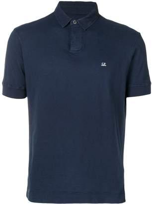 C.P. Company embroidered logo polo shirt