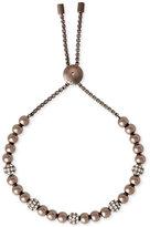 Michael Kors Bronze-Tone Sable Bead Slider Bracelet