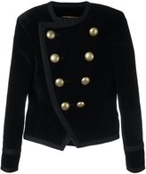 Saint Laurent Spencer cropped velvet blazer - women - Silk/Cotton - 40