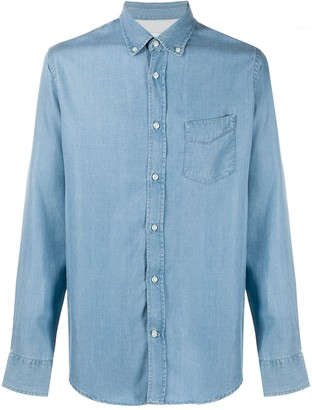 Officine Generale Long Sleeved Denim Shirt