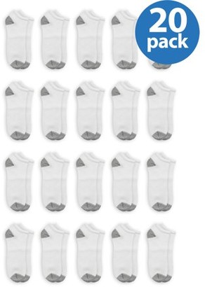 Athletic Works Men's Low Cut Socks Extra Value 20 Pack