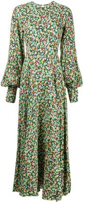 Rotate by Birger Christensen Floral Print Maxi Dress