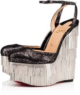 Christian Louboutin Charlestonissima 160 Silver Leather - Women Shoes