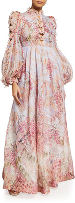 Zimmermann Botanica Butterfly Organza Long Dress