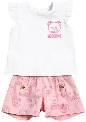 Moschino Cotton Jersey T-shirt & Poplin Shorts