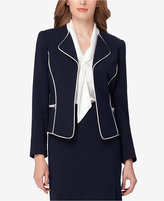 Tahari ASL Petite Piped-Trim Blazer