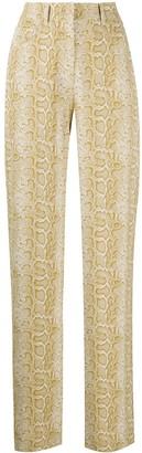 Nanushka Drew snakeskin print trousers