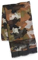 Michael Kors Kala Camouflage Modal And Silk-Blend Scarf