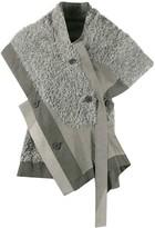 Issey Miyake 132 5. faux fur asymmetric blouse
