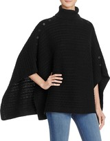 525 America Cable Knit Turtleneck Poncho