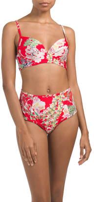 Fleur De Jardin Crop Cami Bikini Top
