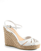 Gucci Penelope GG Leather Espadrille Wedges