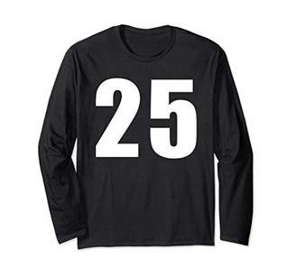 Jersey Number 25 Baseball Football Soccer Basketball Shirt