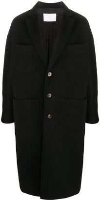 Societe Anonyme Single Breasted Mid-Length Coat