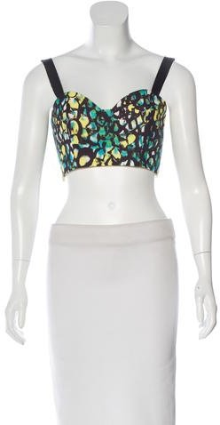 Alexis Sleeveless Printed Crop Top w/ Tags