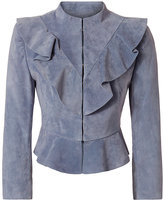 Exclusive for Intermix Benton Suede Ruffle Jacket