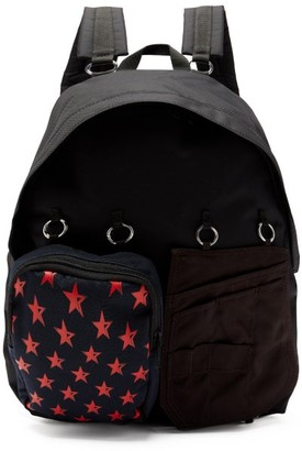 Raf Simons X Eastpak - Doubl'r Star-print Panelled Backpack - Black Multi