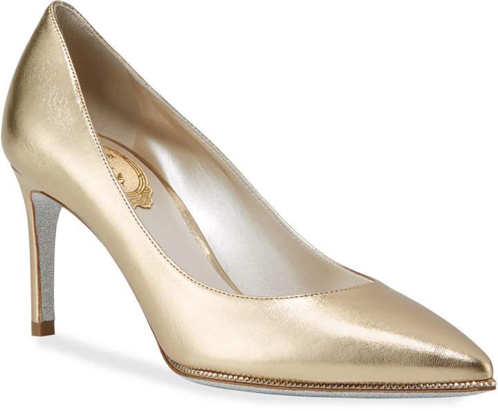 4aacab783cdcf Grace Metallic Leather Pumps, Gold
