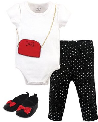 Little Treasures Little Treasure Baby Girl Outfit Bodysuit, Pant & Shoes, 3pc