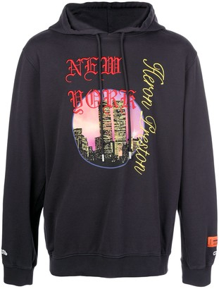 Heron Preston drawstring embroidered NYC hoodie