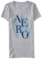 Aeropostale Womens Aero Tri-Feather Graphic T Shirt Gray