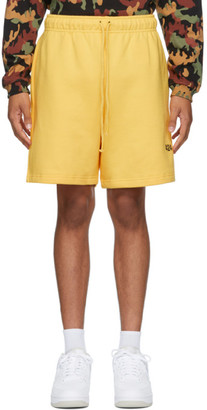 424 Yellow Logo Shorts