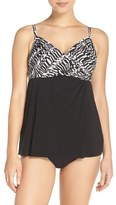 Miraclesuit 'Between the Pleats' Underwire Tankini Top