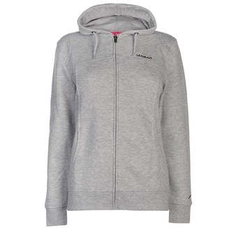 L.A. Gear Womens FZ Hoody Ladies Long Sleeve Full Zip Casual Hoodie Sweat Top Grey Marl 14 (L)