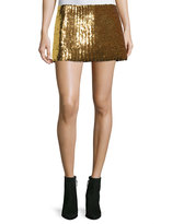 Marc Jacobs Chevron Sequined Mini Skirt