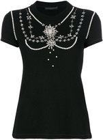 Ermanno Scervino jewelled chandelier T-shirt