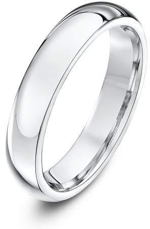Theia Palladium 950 Super Heavy - Court shape 4mm Wedding Ring - Size Q