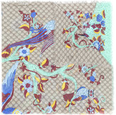 Gucci GG Supreme Jubilee print scarf - women - Silk/Modal - One Size