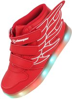 Shinmax LED Kid Shoes LED Sneakers Shoes CE certification 7 Colors Changing Flashing Sport Shoes USB charging(,37)