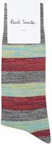 Paul Smith Spaceman Striped Cotton Socks