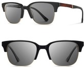 Shwood Men's 'Newport' 52Mm Polarized Sunglasses - Black