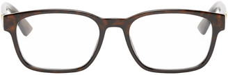 Gucci Tortoiseshell Rectangular Glasses