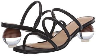 42 GOLD Motif (Black Leather) Women's Shoes