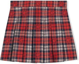 Gucci Kids Square G check skirt