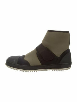 Marni Neoprene High-Top Sneakers Olive