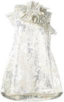 Marques Almeida Marques'almeida - ruffled neck jacquard dress - women - Cotton/Polyamide/Polyester - M