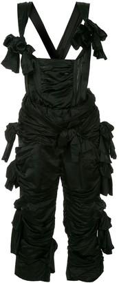 Comme Des Garçons Pre Owned Ruffle Bow Embellished Jumpsuit
