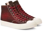 Visvim - Skagway Suede-trimmed Checked Wool High-top Sneakers
