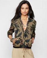 Denim & Supply Ralph Lauren Floral-Print Bomber Jacket