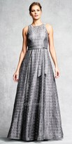 Aidan Mattox Rhinestone Embellished A-line Evening Gown