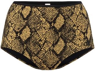 Solid & Striped Brigitte snake print bikini bottoms