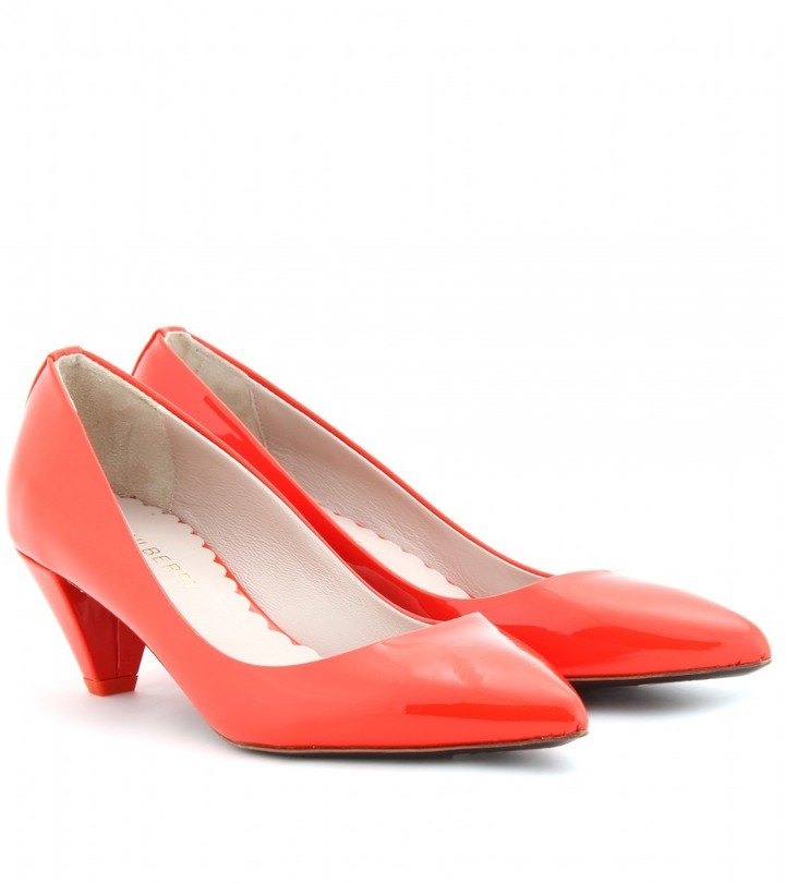 Mulberry PATENT LEATHER KITTEN HEEL PUMPS